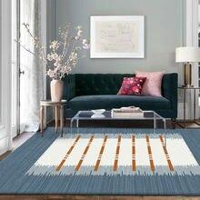 Скандинавский свежий и элегантный прикроватный коврик для спальни