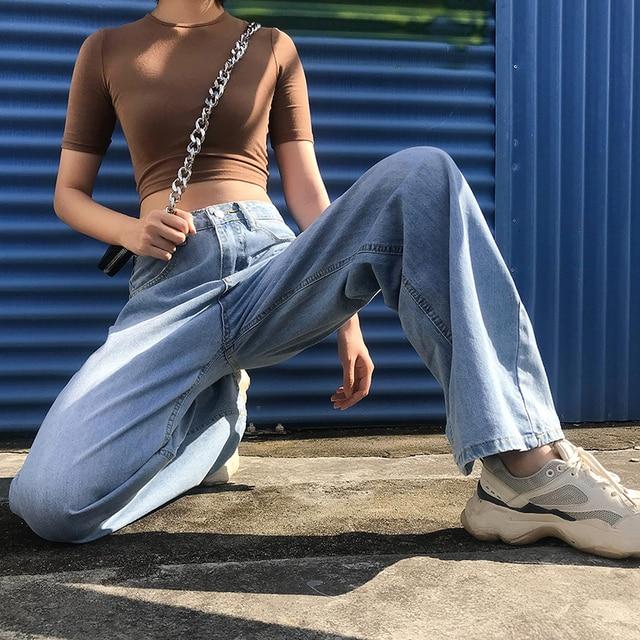 Ladies Straight Leg Baggy Jeans 3