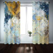 Kitchen Bedroom Window Curtains 100% Blackout Curtains Living Room Thick Silk Curtains Custom Made Drapes(China)
