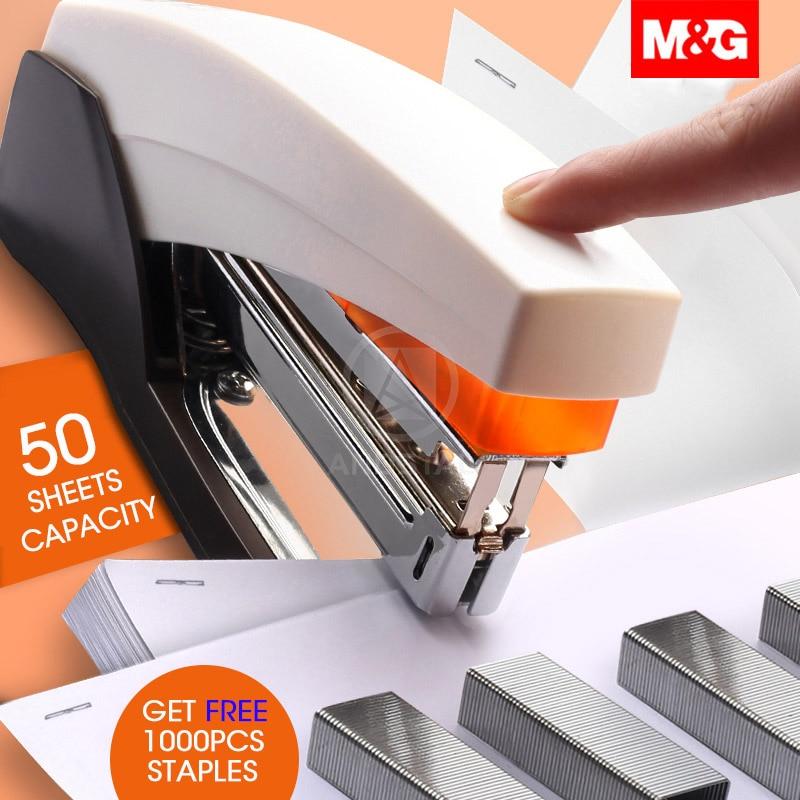 M&G 25/50 Sheets Effortless Power Saving Heavy Duty Stapler Meta Paper Stapling Machine For School Office Supplies Stationery