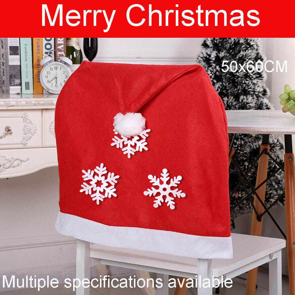 Noel dekorasyon sandalye kapakları yemek koltuğu noel baba ev partisi dekoru festivali hediyeler Sants baba yumuşak noel dekorasyon