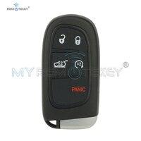 Remtekey chave inteligente para dodge chrysler jeep cherokee 2014 2015 2016 2017 5 botões 433 mhz GQ4 54T keyless entrada chave do carro remoto|Chave do carro|   -