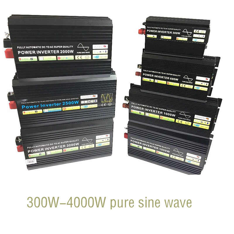 محض الشرط موجة العاكس محول DC إلى AC خارج الشبكة الشمسية العاكس 300W 600W 800W 1000W 1200W 1500W 2000W 2500W 3000W 4000W