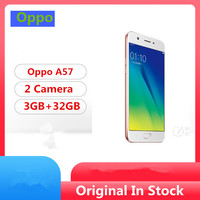 """Global Firmware Oppo A57 4G LTE Smart Phone Snapdragon 435 Android 6.0 5.2"""" IPS 1280x720 3GB RAM 32GB ROM 16.0MP Fingerprint 1"""