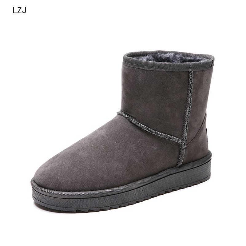 Yeni kış kadın kar botları sıcak kısa peluş yumuşak bayanlar artı boyutu bileğe kadar bot kadın kürk platformu kadın rahat ayakkabılar kadın