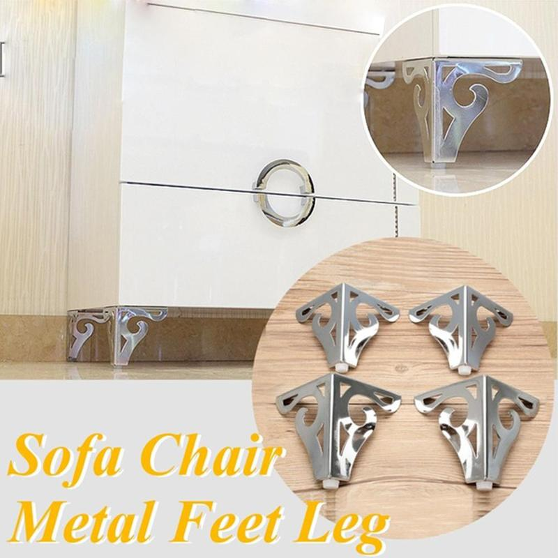 10cm Metal Polished Sofa Chair Legs European Hollow Patten Table Cabinet Bed Feet Furniture Legs