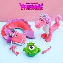 2021 New Cartoon Wish Dragon Plush Toy Stuffed Animal Soft Dinosaur Stuffed Dolls Birthday Gift For Children