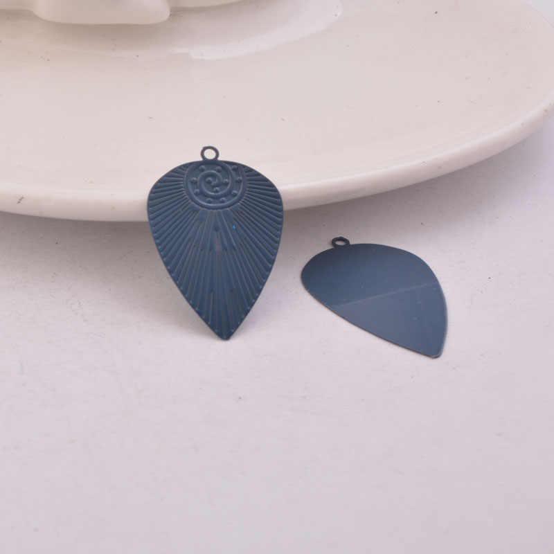 50pcs AC111126 18*28mm géométrie breloques boucle d'oreille pendentif résultats pour femme Bijoux