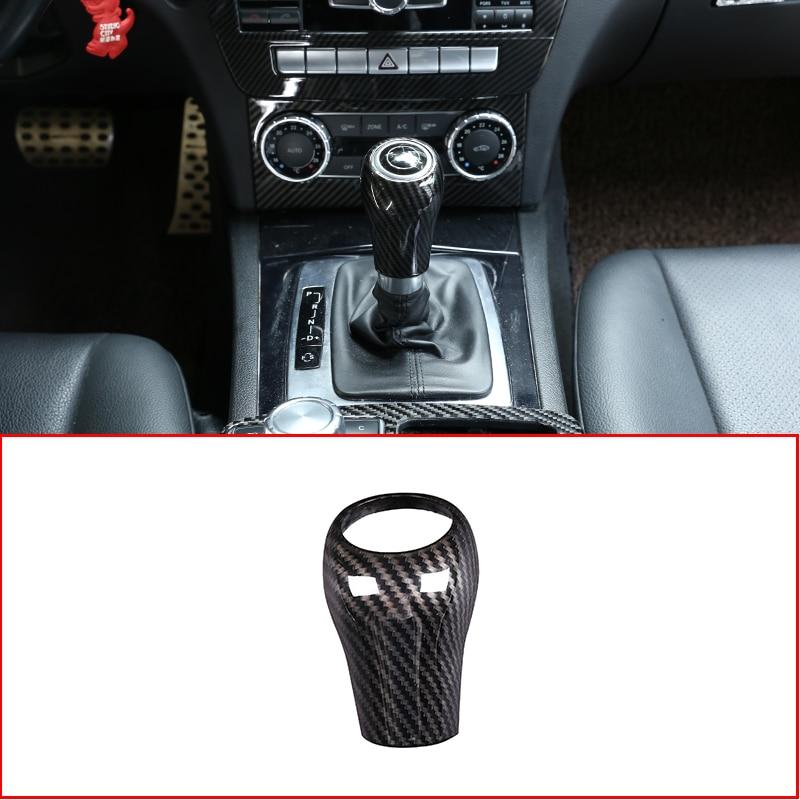 Для Mercedes Benz A C E G GLK CLS Class W169 W203 W204 W211 W212 W463 X204 W219 W218 автомобильный чехол для рычага переключения передач отделка Аксессуары