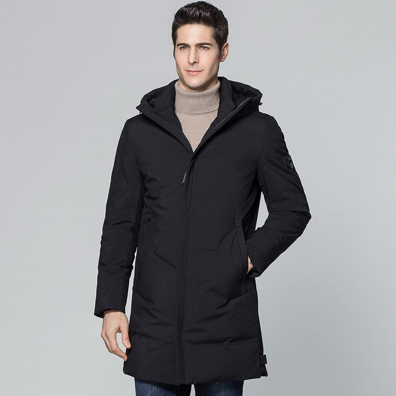 Men's Down Jacket Winter Long Hooded Coat Men Thick Casual Duck Down Coats New Arrival Men's Jackets Kurtka Zimowa KJ569