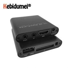 مشغل وسائط خارجي عالي الدقة ، 1080 بكسل ، USB ، متوافق مع HDMI ، صندوق وسائط تلفزيون SD ، متوافق مع MKV ، H.264 ، RMVB ، WMV