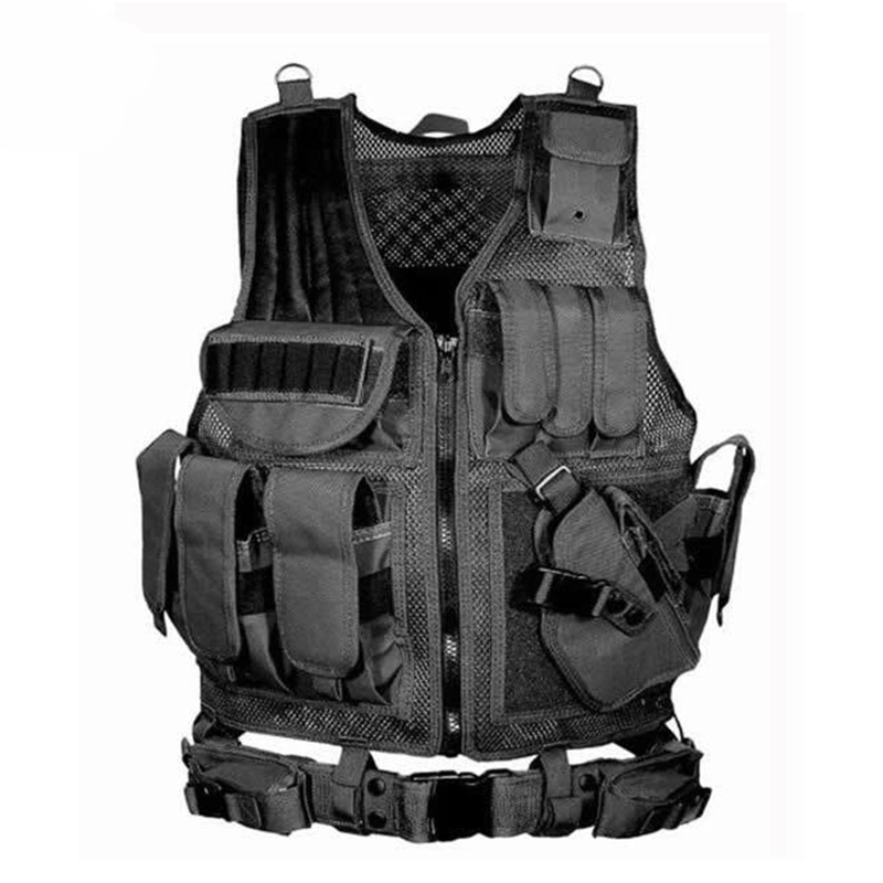 Tactical Equipment Molle Hunting Vest Military Army Police Vest Airsoft Paintball War Game Protective Body Armor