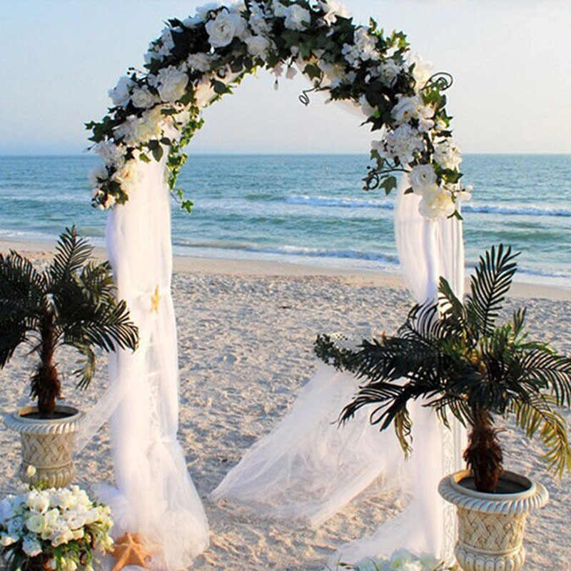 48 ซม.x 5 M/10 M/15 M organza คริสตัล tulle เด็กเส้นด้ายหิมะสำหรับงานแต่งงานคริสต์มาสวันเกิด DIY party arch ตกแต่ง