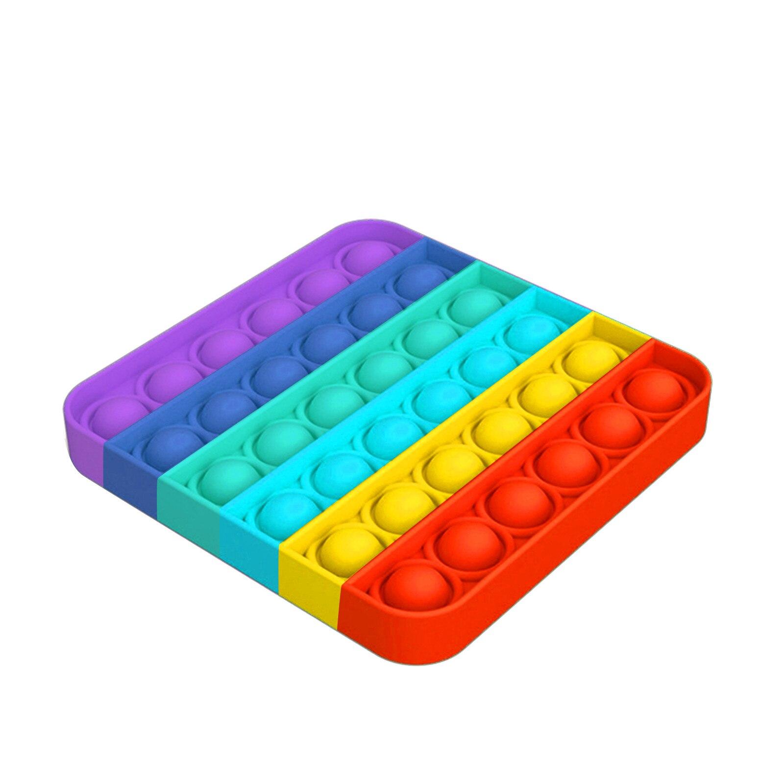 Śmieszne zabawki typu Fidget proste dołek Poppit zabawka bańka Pop zabawka sensoryczna dla dorosłych dzieci Stress Reliever autyzm prezent chruшары|Zabawki do zgniatania|   -