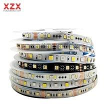 5M 2835 5050 rvb + CCT 5 couleurs dans 1 puce Luces Led bande lumineuse 4in1 RGBW RGBWW bande Flexible AC12/24V 60/90led/m 12mm PCB