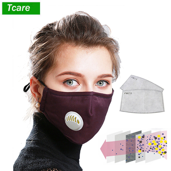 Tcare Anti Pollution N95 Mouth Mask Dust Respirator Washable Reusable Masks Cotton Unisex Mouth Muffle for Allergy/Asthma/Travel