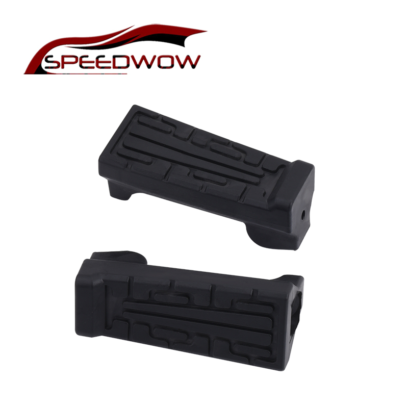 SPEEDWOW 1Pair Motorcycle Front Foot Rests Pedals Footrest Rubber Pad For Yamaha YBR 125 Motorcycle Parts New Arriver