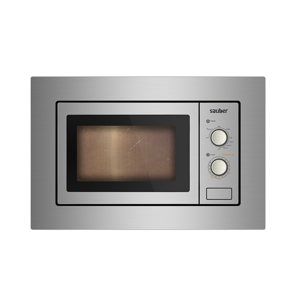 Microware Oven Integrable Sauber HMS01I 20 Liters With Grill Stainless Steel