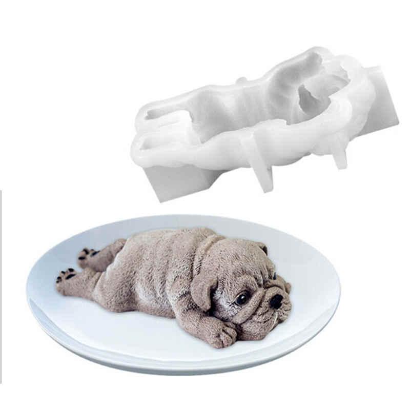 Nuttig Leuke Hond Fondant Decoratie Schimmel Siliconen Mal Mousse Cake 3D Shar Pei Schimmel Ijs Jello Pudding Blast Chilling tool