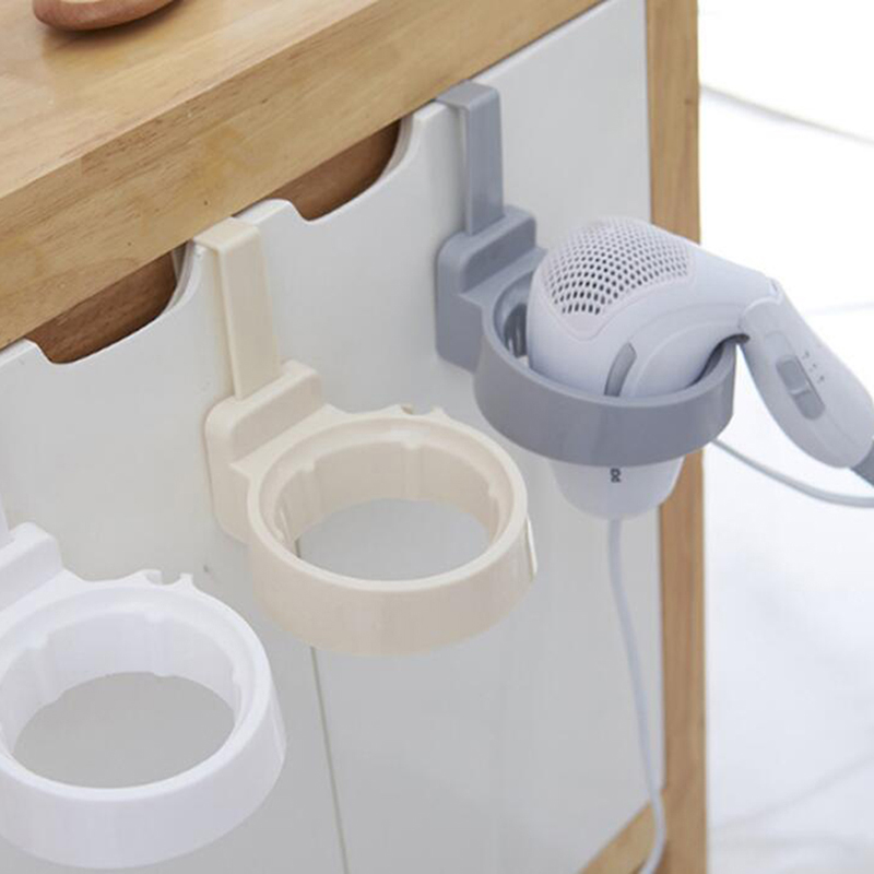 Creative Wall-mounted Hair Dryer Holder  Bathroom Shelf Storage Hairdryer Holder Rack Organizer For Hairdryer