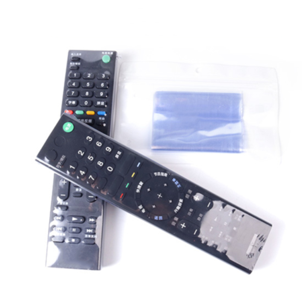 10Pcs Clear Shrink Film TV Remote Control Case Cover Air Condition Remote Control Protective Anti-dust Bag 1