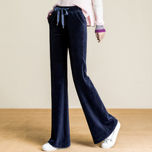 High Waisted Wide Leg Pants Corduroy Casual Loose Striped Pants Modis