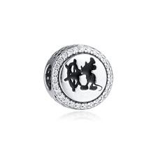 Fits Pandora Bracelet Beads for Jewelry Making 925 Sterling Silver Bead Mickey Cruises Charm Women Gift Kralen Wholesale цена