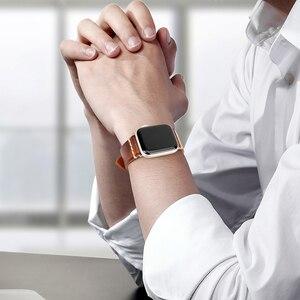 Image 5 - Correa de reloj de cuero de vaca hecha a mano repuesto para Apple Watch Band 44mm 40mm 42mm 38mm Series SE 6 5 4 3 2 iWatch Watch pulsera
