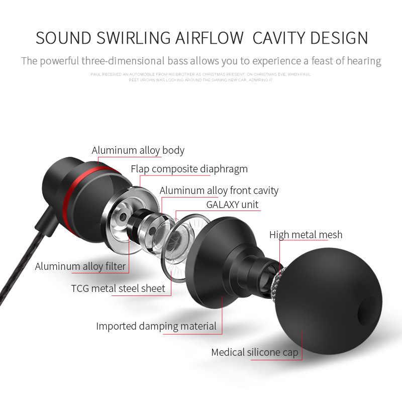 3.5 مللي متر سماعات حبالي سماعات المعادن السلكية 3.5 مللي متر سماعات TDK في الأذن سماعات للهاتف المحمول PC الألعاب MP3 Mic سماعات