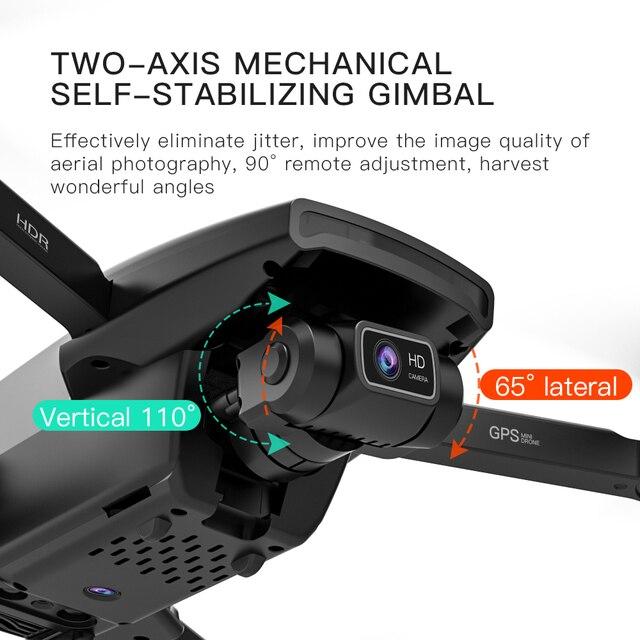 Novo 2021 l108 zangão gps com câmera hd 4k profissional 2000m transmissão de imagem brushless motor rc quadcopter dobrável presente do miúdo 3