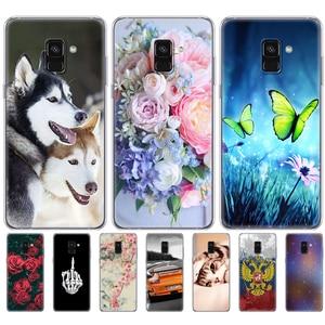 Image 2 - Capinha para samsung galaxy a8 2018 a530 a530f silicone capa de telefone para samsung a8 plus 2018 a730 a730f clara casos telefone escudo