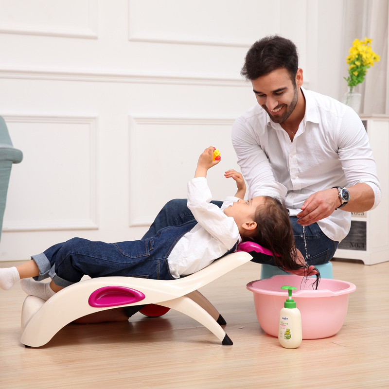 Children's Shampoo Chair Baby Shampoo Bed Child Recliner Shampoo Chair Folding Thickening Increase