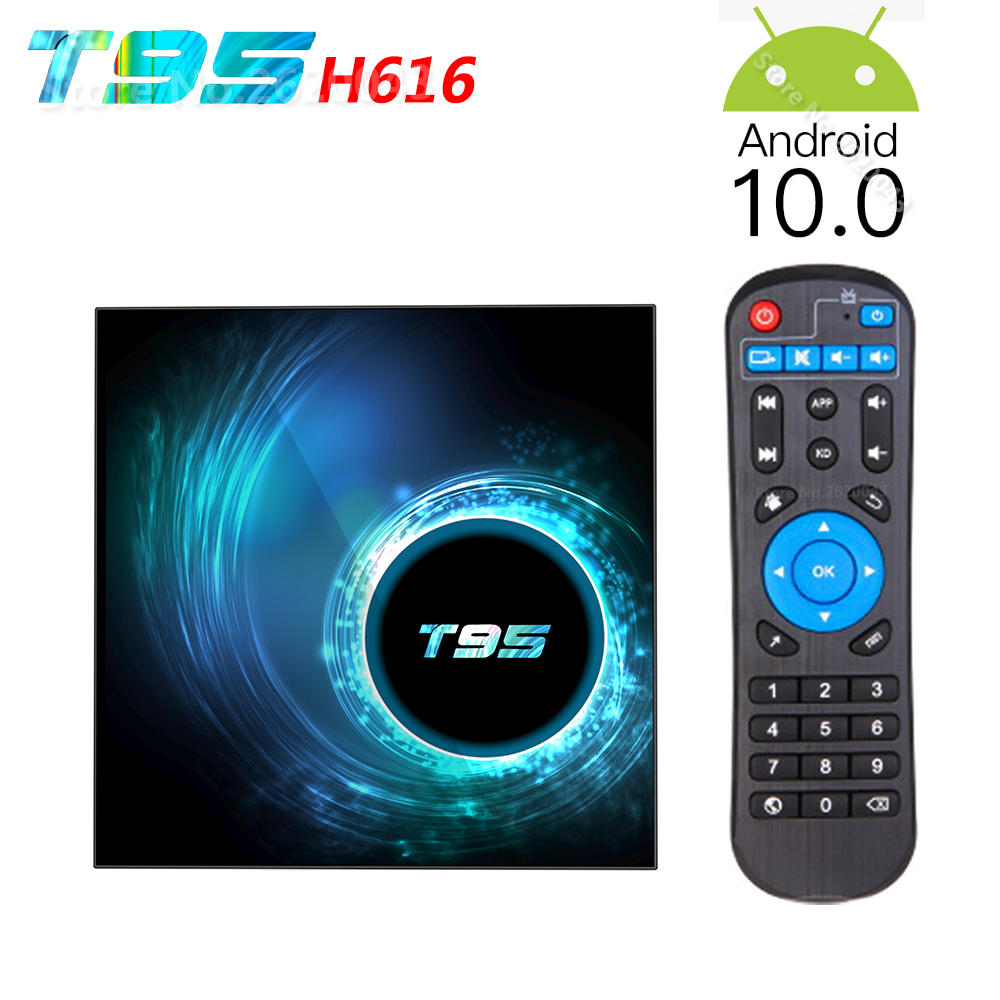 Presale T95 H616 Smart Android 10.0 TV Box 4GB RAM 32GB 64GB ROM Allwinner H616 WiFi Media Player 6K HD 2GB 16GB Set Top Box