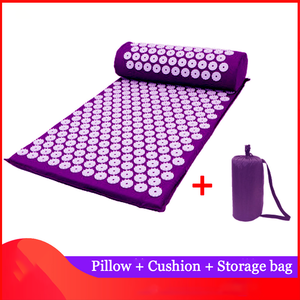 Massager Cushion Acupuncture Sets Relieve Stress Back Pain Acupressure Pillow Massage Mat Flower Spike Massage and Relaxation