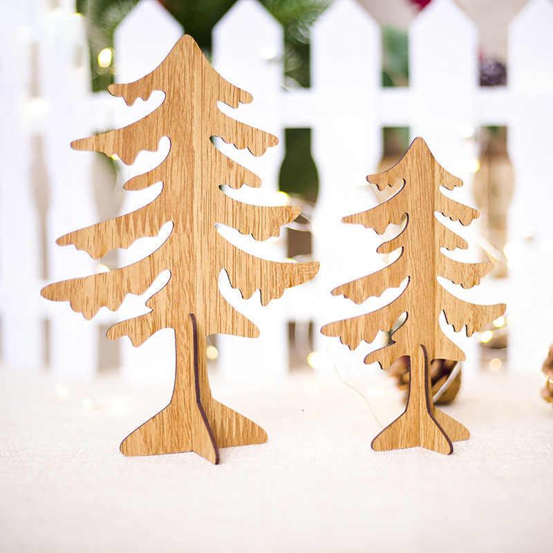Sáng Tạo DIY Giáng Sinh cây Hươu Bằng Gỗ Thủ Công Xmas Vật Trang Trí Trẻ Em Quà Tặng Năm Mới Trang Trí Tiệc Nhà Trang Trí 62869
