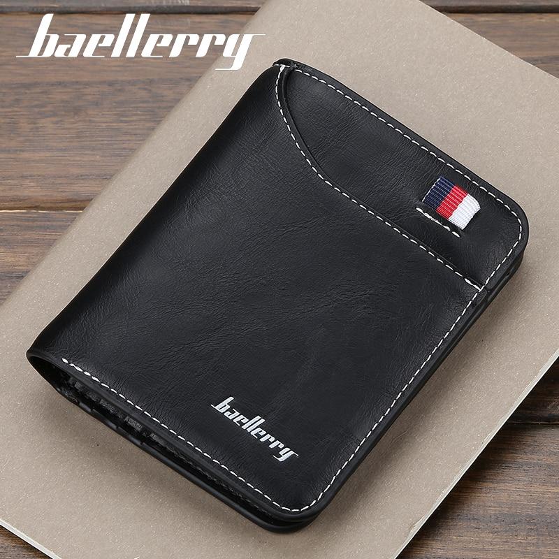Quality Guarantee Small Men Wallet Designer Leather Man Card Purse Brand Short Male Thin Money Bag