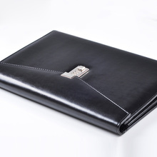 A4 Document File Folder with Lock Padfolio Fichario Password Briefcase Organzier Executive Cabinet PU Leather Office Manager Bag недорого
