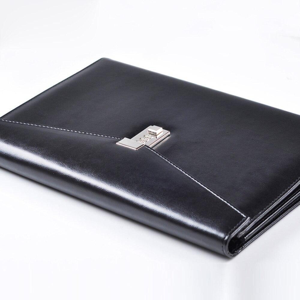 A4 документ файл папку с замком органайзеры Fichario пароль Портфели Органайзер Исполнительный шкаф из искусственной кожи офисная сумка менеджера