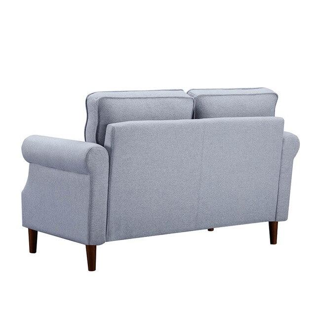 Velvet Fabric Love Seat  2