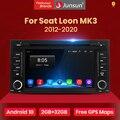 Junsun Android 10,0 Автомобильный мультимедийный плеер радио для Seat Leon MK3 5F 2012 2013 2014 2015 2016 2017 2018 GPS DVD RDS DSP CarPlay