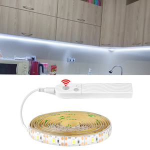 LED Strip on Batteries PIR Motion Sensor Detection TV Backlight lights for kitchen bedroom fita led strips 5V USB LED Tape Lamp(China)