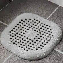 gray white 138*138mm hair filter kitchen sink strainer drain bathroom catcher silicone afvoerstop filtre evier