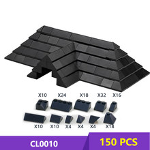 Moc Diy Dak Tegels Pack Baksteen Pack Enlighten Blok Baksteen Set Compatibel Met Andere Assembleert Deeltjes Geen Instructie