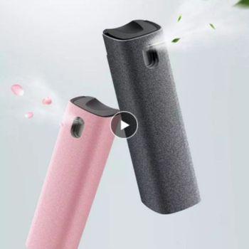 Mobilny PC środek do czyszczenia ekranu ściereczka z mikrofibry zestaw szkło tabletu Cleaner czyszczenie artefakt przechowywanie 2 w 1 środek czyszczący do ekranu telefonu środek do czyszczenia ekranu Spray tanie i dobre opinie CN (pochodzenie) Płynna 1 pc inny Screen Cleaner 9*2 7*2 7cm pink gray dropshipping