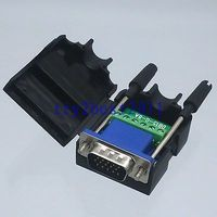 DHL/EMS 20 conjuntos conector DB15 6pin pin D SUB 3 + 2 línea Termina PCB plástico cubierta tornillo b C1 Accesorios para baterías     -