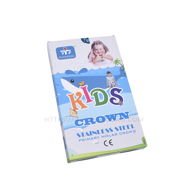 1pack 48pcs High Quality Stainless Steel Children Metal Premature Preformed Tooth Crown Accurate Temporary Crown Children Crown