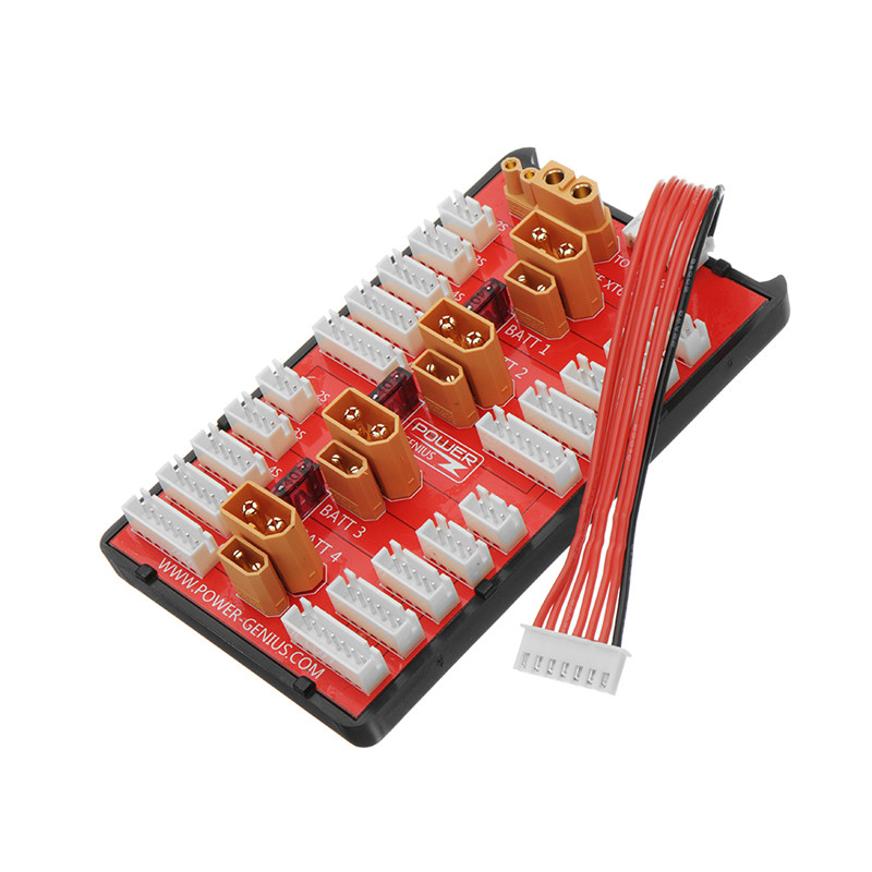 >2 IN 1 PG Parallel Charging Board XT30 XT60 Plug Supports <font><b>4</b></font> Packs 2-8S Lipo Battery For RC Models Multicopter Part Accessories
