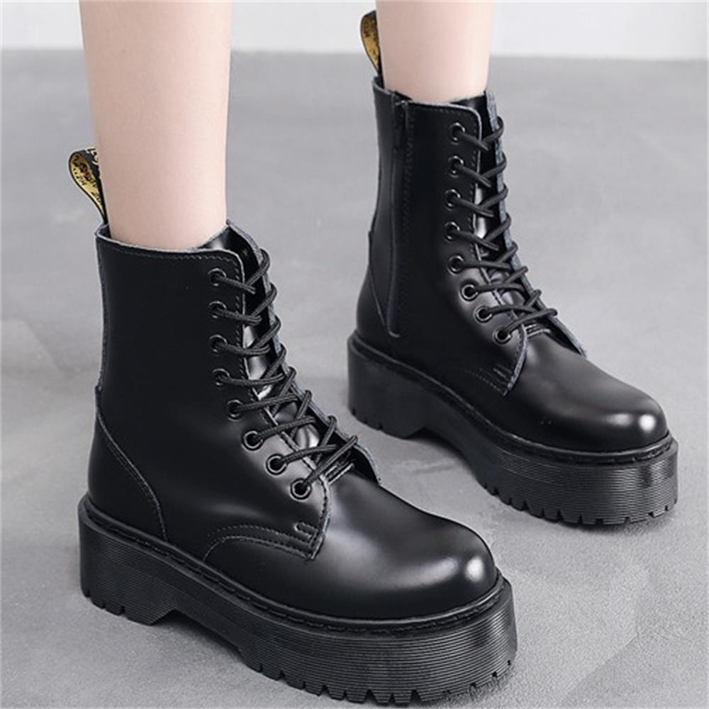 Женская Роскошная брендовая панк дизайнерская обувь; Сапоги из натуральной кожи с молнией сбоку; Chaussures; Большие размеры, увеличивающие рост...