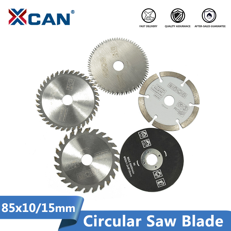 XCAN 85mm Saw Blade Mini Cutting Disc For Dremel Power Tools Wood Circular Saw Blade