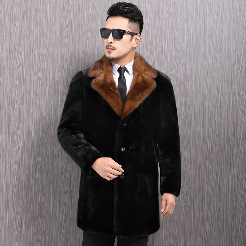 Real Fur Coat Men Real Mink Fur Coat 2020 Winter Jacket Men Real Fur Warm Outwear Mens Clothing Veste Homme Vnf17226 YY961
